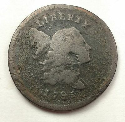 1795 Liberty Cap Lettered Edge Half Cent Coin