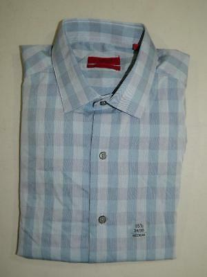 Alfani Men's Dress Shirt Blue Fitted Performance NWT Size 15 1/2 34/35 DS1795