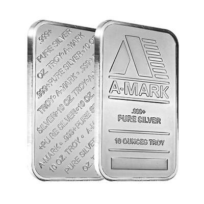 A-Mark 10 oz Silver Bar .999 Pure Silver (Sealed)