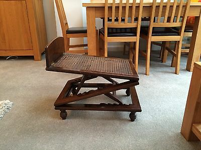 Antique late 19th century extendable foot rest