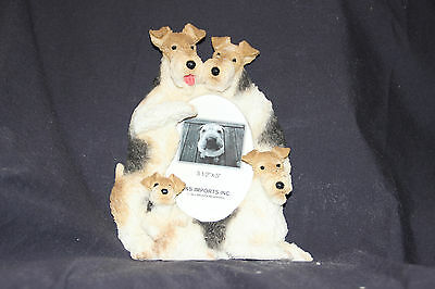 Wire Fox Terrier Dog 3x5 Picture Frame By E&S Imports ~NEW~