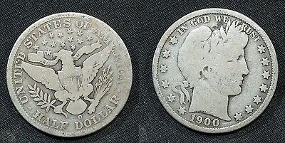 1900-O  U.S. Barber Half Dollar Solid G/VG (almost 2 letters in Liberty) stk#463