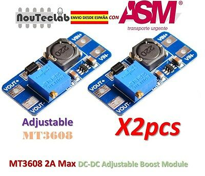 2pcs MT3608 DC-DC Step Up Power Module 2A Max Booster Power Module for Arduino