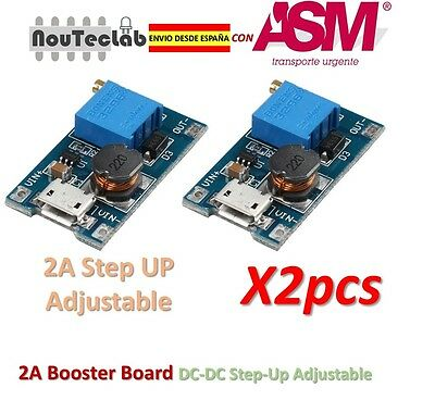 2pcs 2A Booster DC-DC Step-up 2/24V to 5/12/28V Micro USB MT3608 Replace XL6009