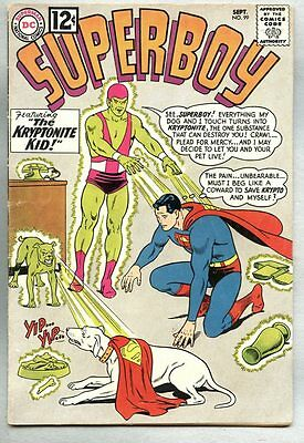 Superboy #99-1962 fn- Curt Swan Kryptonite Kid