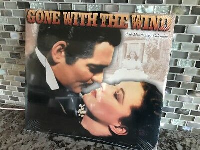 Vintage Gone With The Wind 2003 Calendar 16 Month Large Photos Sealed New