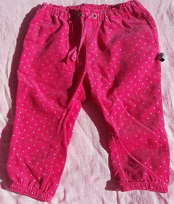 Baby Girl Corduroy Pant   Pink with Silver Dots   Size 1