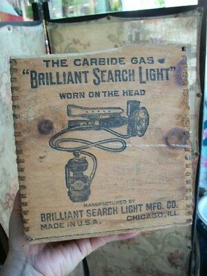 VINTAGE Brass Carbide Miners Light made by brilliant search company