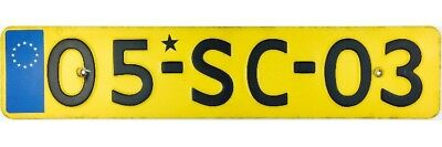 2005 Netherlands Military Schinnen Army Base License Plate #05-SC-03