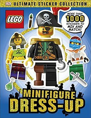 LEGO Minifigure Dress-Up! Ultimate Sticker Collection  by DK New Paperback Book
