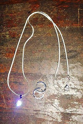 Silver Necklace With Pendant And Hoop Earrings