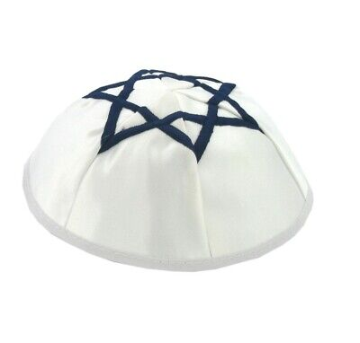 Blue Star Of David Satin Yarmulke Kippah Jewish Kippa Hat Cupples Cap