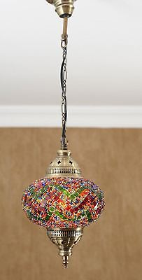 Antique Handmade Ceiling Pendant Light Fixture Hanging Lamp Turkish Mosaic Glass
