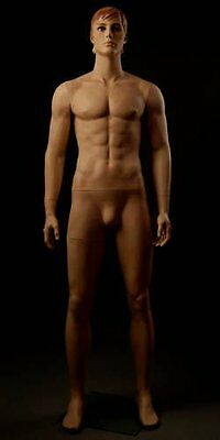 Realistic Male Mannequin, Includes Steel Base & Rods, Made of Fiberglass (gm32)