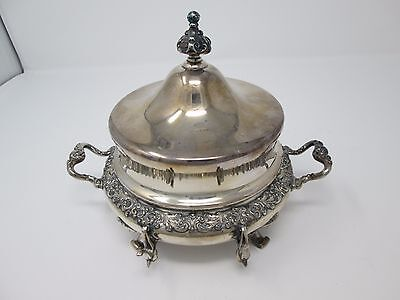Reed & Barton Silverplate Butter Dish no. 3645 3 pieces Antique patented 1897
