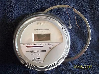 ITRON Residential Electric Meter Type C1SR 200 amp 240 volt Good Working Cond