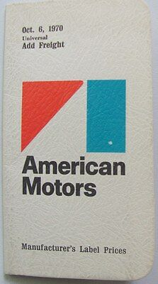 1971 American Motors Cars Price Booklet For Salesmen