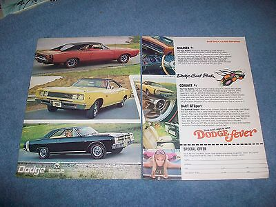 1968 Dodge Charger R/T Coronet Dart GTS Vintage Scat Pack 2pg Color Ad