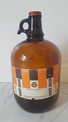 A&W Root Beer Gallon Jug Amber with cap 1960's?