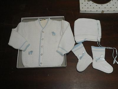 "Vintage 1940's ""Newport Fashioned for Little Men"" Baby Boy Sweater Outfit MIB"