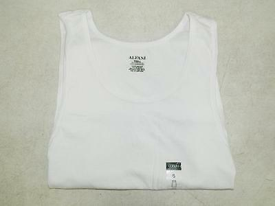 Alfani Men's White Tank Top Undershirt 100% Cotton NWT Size S