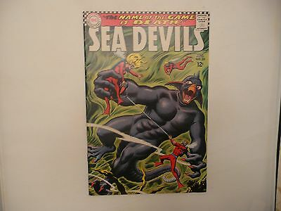 """Sea Devils #35 ( 1967 )  ( Fn )  """"the Name Of The Game Is Death ! """" Last Issue !"""
