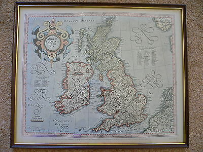 The British Isles Map. 1595. British Museum. Framed and Glazed