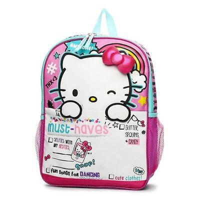 02f62adf1ca5 HELLO KITTY BACKPACK 3D Ribbons Ruffle With Two Side Mesh Pockets ...