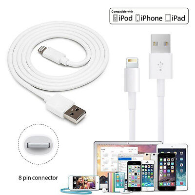 3/6/10Ft Lightning USB Charger Charging Data Sync Cable For iPhone 6 6s 7 Plus