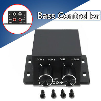 Universal Car Audio Amplifier Bass Controller RCA Gain Level Volume Equalizer