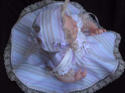 10 inch OOAK DRESS SET- Reborn Doll - Hand Made Doll Clothing
