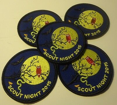 Boy Scout Patches 5 Qty. Scout Night 201,all New (116)