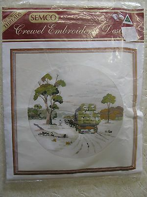 The Wool Harvest Semco crewel embroidery kit Kit No. 4010.2