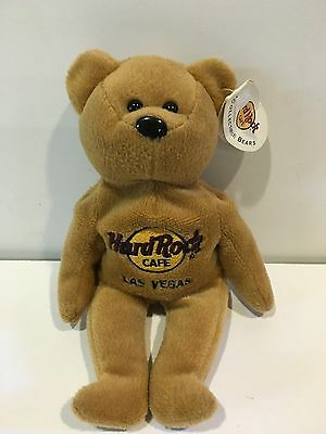 Collectible Beanie Babies Bear - Hard Rock Cafe -  Las Vegas  Stuffed /plush Toy