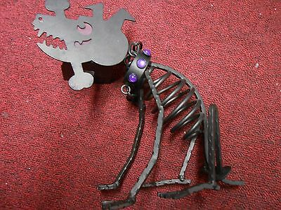 Partylite Sticks Dog Skeleton Halloween Candle Holder