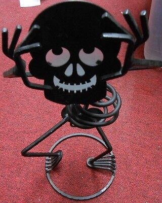 PARTYLITE HALLOWEEN skeleton bones Wrought iron Candle holders