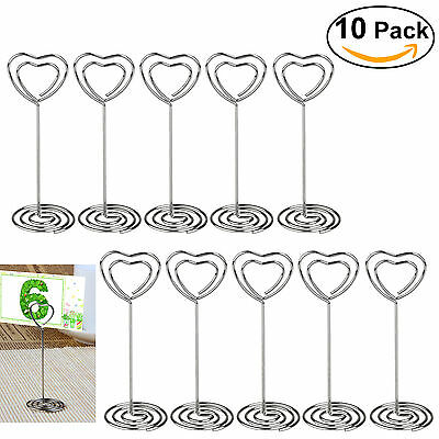 10pcs place card holder heart shape wedding party favor clips pixnor us shipping