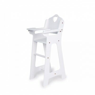 Doll high chair - white