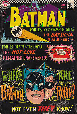 Batman #184 Dc Comics (Gd/vg-) Sept. 1966 Silver Age
