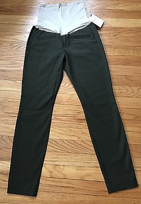 GAP NWT $69 Maternity Skinny Ankle Olive Green Pants Size 2 R