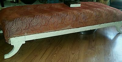 Long Duncan Phyfe  Sofa, made bench/ upcycled
