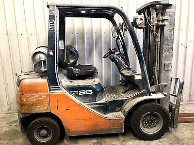 2007 Toyota 8FG25 2.5 tonne LPG Container Mast Forklift Free SYDNEY delivery