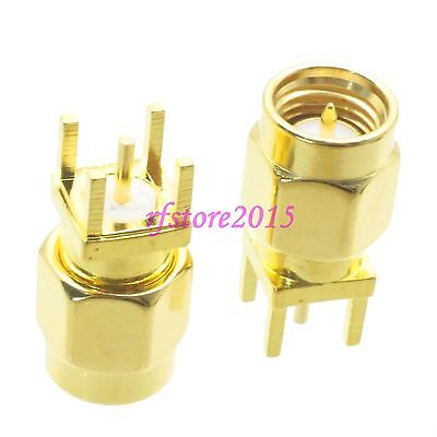 1pce Connector SMA male plug solder PCB mount RF COAXIAL