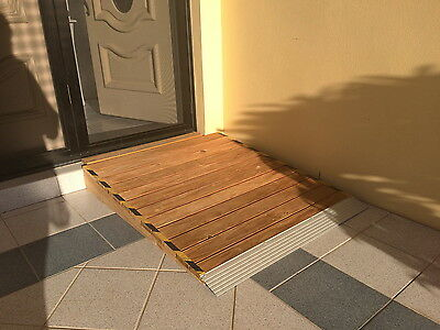 WOODEN ACCESS RAMP for WHEELCHAIR WALKER AGED DISABLED MOBILITY SUNNY COAST 4551