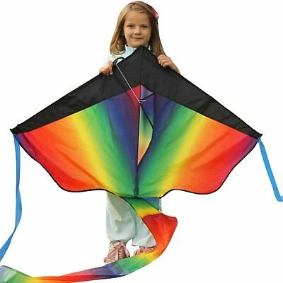 Huge Rainbow Kite For Kids Fun Outdoor Summer Games Activities AU Stock