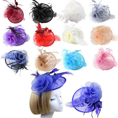 New Lady Headband Elegant Sinamay  Fascinator Hat  Occasion Weddings Party