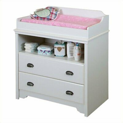 South Shore Fundy Tide Changing Table in Pure White