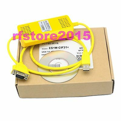 PLC Cable CS1W-CIF31 for omron PLC WIN7 VISTA XP USB to RS232 adapter