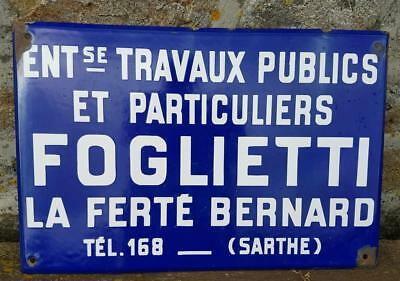 French Enamel Advertising / Publicité Sign-Vintage French Industrial-FOGLIETTI