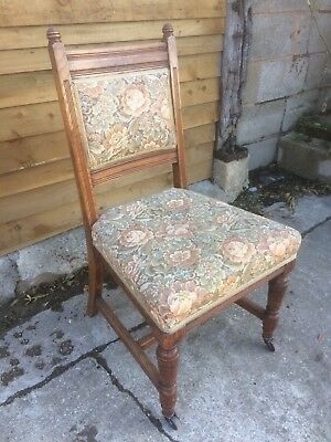 Stunning set of six Solid Oak Victorian dining chairs. Price reduced
